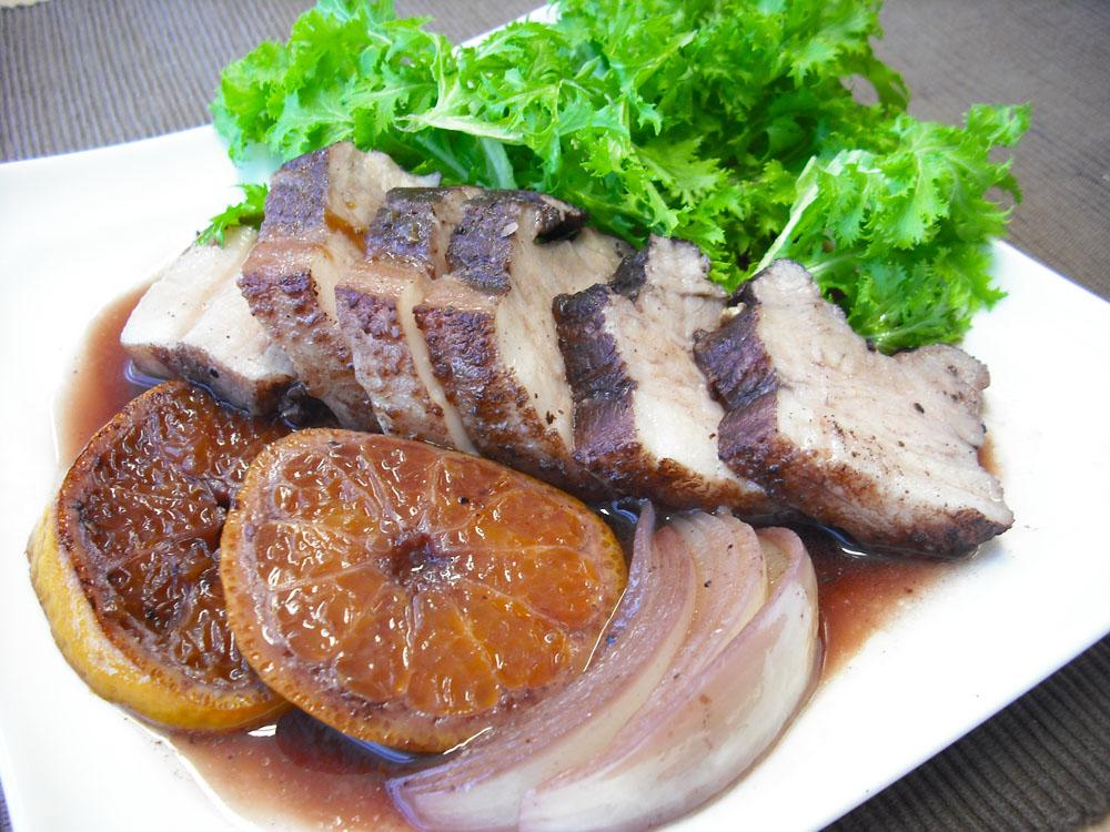 ~柑橘が香る~豚ばら肉の赤ワイン煮