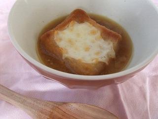 なんちゃってオニオングラタンスープ