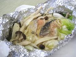 鮭とキノコのホイルちゃんちゃん焼き