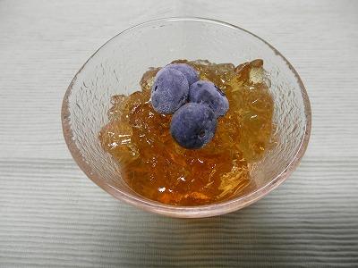 ブルーベリー酢の水玉ゼリー