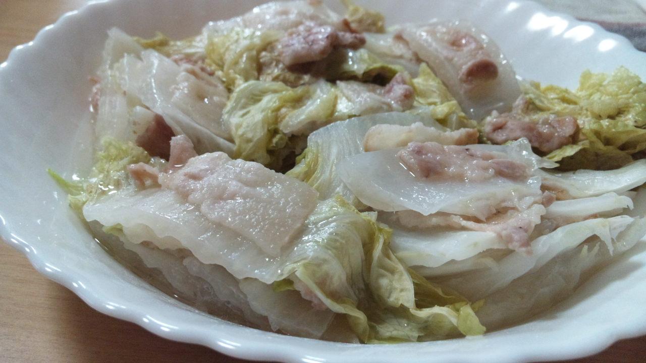 電子レンジで簡単!白菜と豚肉の重ね蒸し