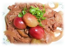 豚肉&ぶどうの赤ワイン煮