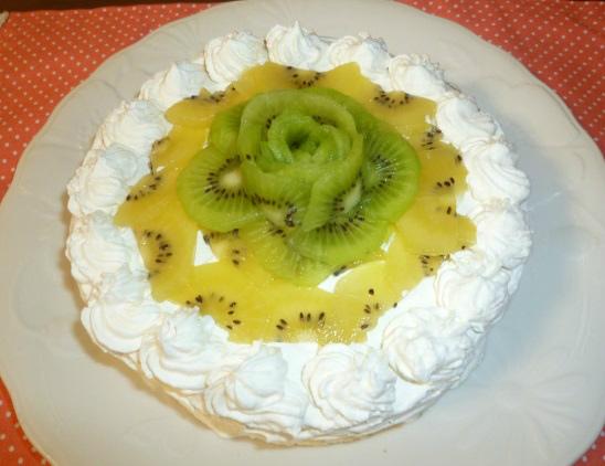 キウイのショートケーキ