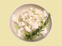 メロンとカッテージチーズのサラダ