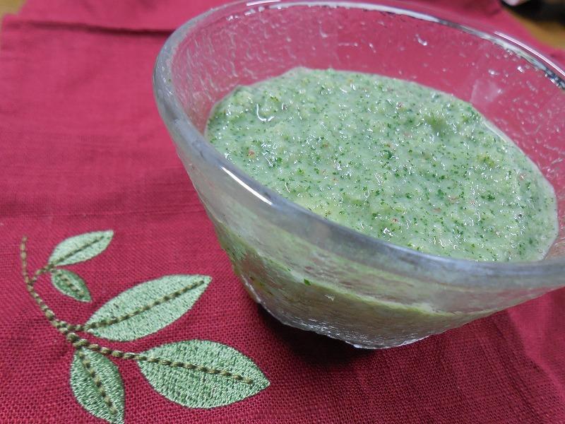 小松菜のグリーンプディング