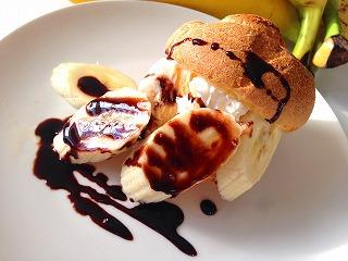 バナナとチョコのポップオーバー
