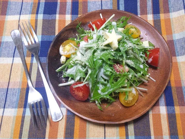 水菜のツリーサラダ