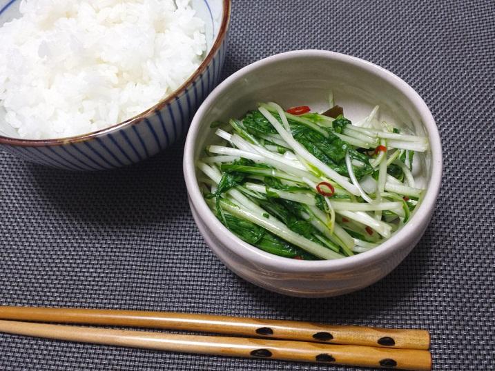 水菜の簡単醤油漬け