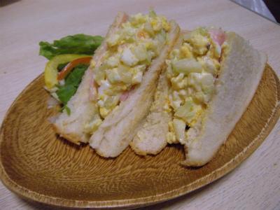 セルリーのサンドイッチ