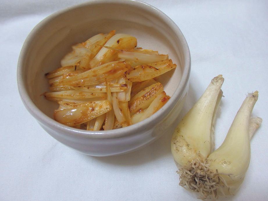 らっきょうの味噌炒め