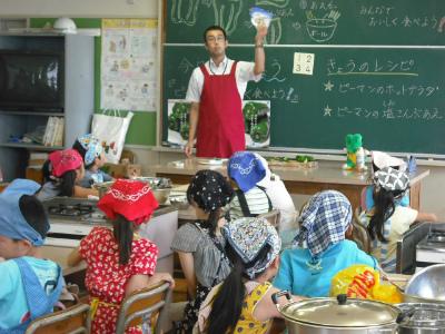 宮崎県産ピーマンの食育出前授業(後半)