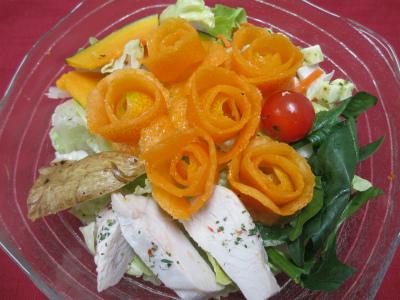 バラの金柑サラダ