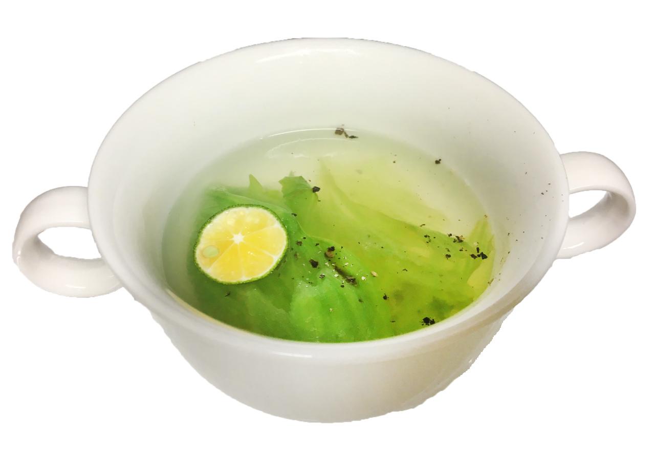シークワーサーとレタスのスープ