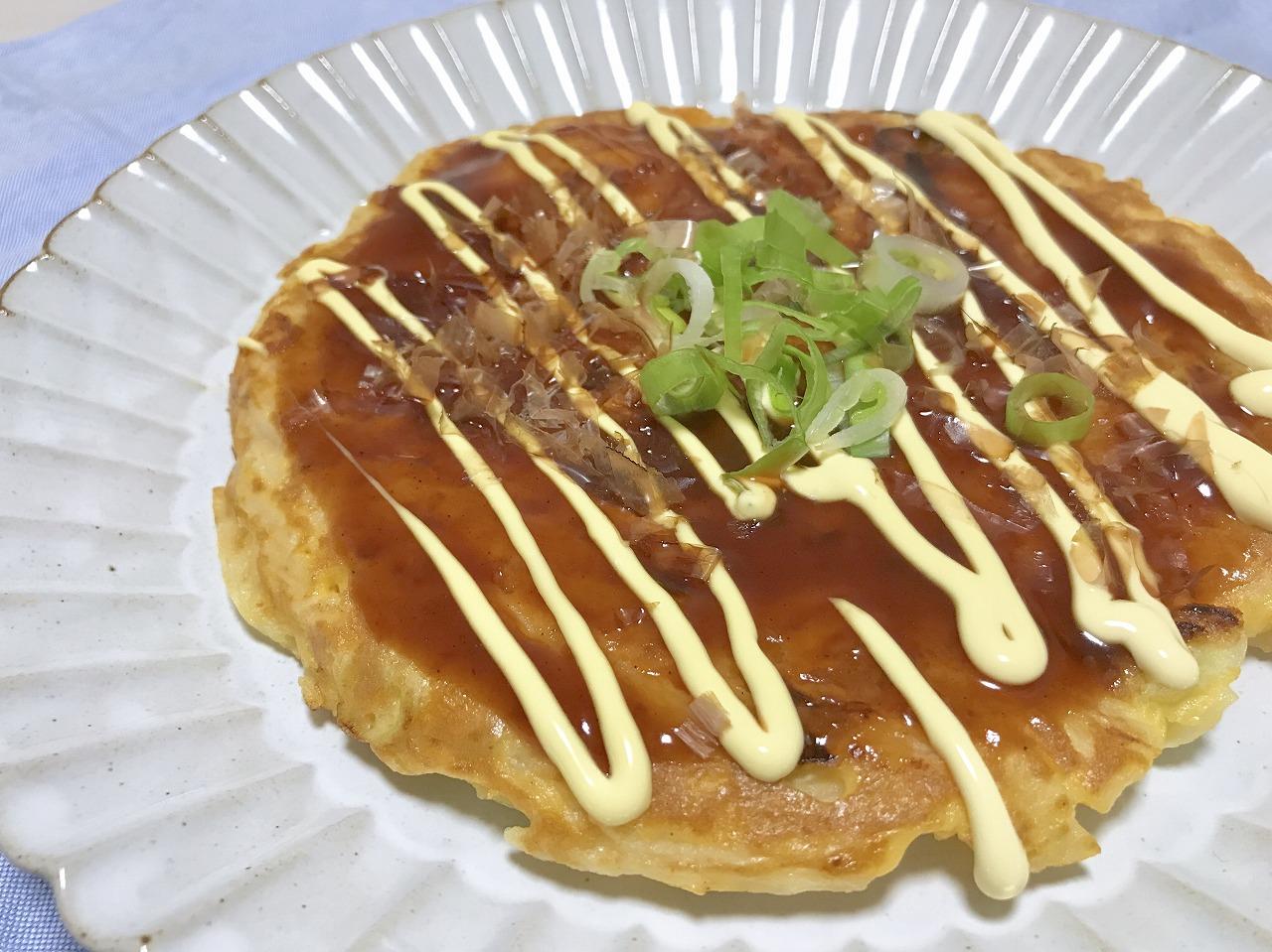 長芋のお好み焼き