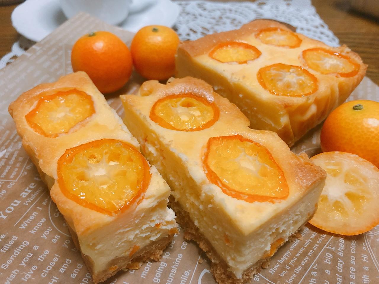 金柑のスティックチーズケーキ