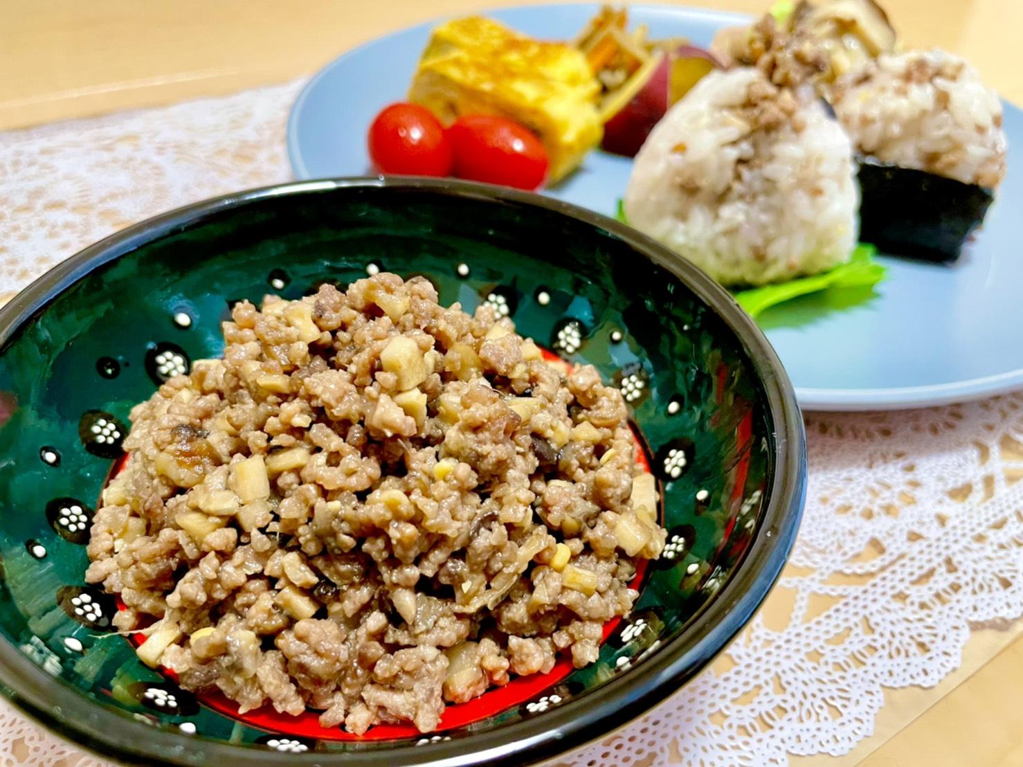 椎茸の肉味噌